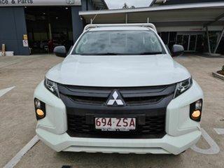 2019 Mitsubishi Triton MR MY20 GLX White 5 Speed Manual Cab Chassis