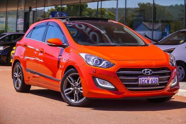 Used Hyundai i30 GD3 Series II MY17 SR Premium Gosnells, 2016 Hyundai i30 GD3 Series II MY17 SR Premium Orange 6 Speed Sports Automatic Hatchback