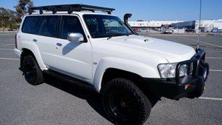 2010 Nissan Patrol GU 7 MY10 ST Pearl White 4 Speed Automatic Wagon