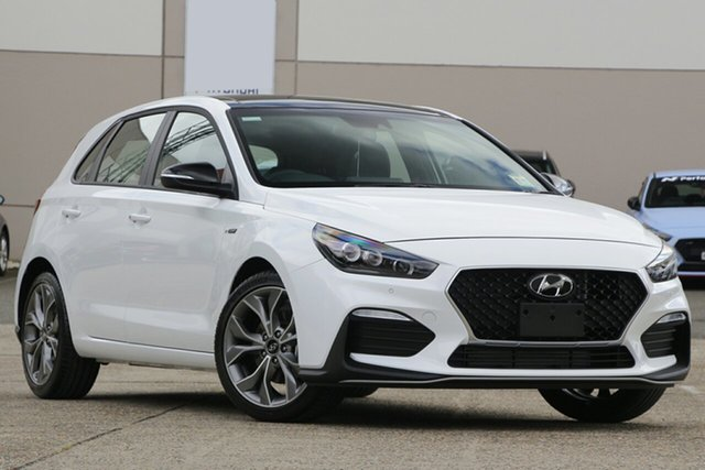 New Hyundai i30 PD.V4 MY21 N Line D-CT Premium North Gosford, 2020 Hyundai i30 PD.V4 MY21 N Line D-CT Premium Polar White 7 Speed Sports Automatic Dual Clutch