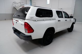 2015 Toyota Hilux GUN125R Workmate Double Cab White 6 Speed Sports Automatic Utility