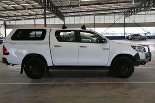 2016 Toyota Hilux GUN126R SR (4x4) Glacier White 6 Speed Manual Dual Cab Chassis