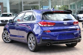 2020 Hyundai i30 PD.V4 MY21 N Line Intense Blue 7 Speed Auto Dual Clutch Hatchback