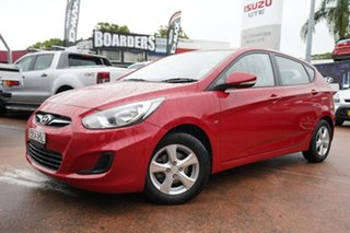 2011 Hyundai Accent RB Active Red 4 Speed Automatic Hatchback.