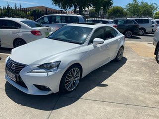 2014 Lexus IS AVE30R IS300h Luxury White 1 Speed Constant Variable Sedan Hybrid