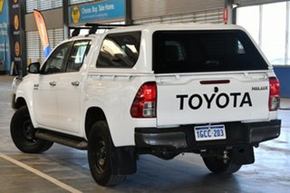2016 Toyota Hilux GUN126R SR (4x4) Glacier White 6 Speed Manual Dual Cab Chassis.