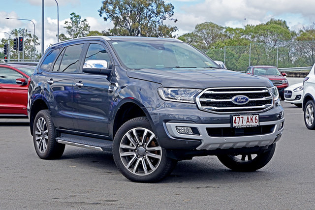 Used Ford Everest UA II 2020.75MY Titanium Ebbw Vale, 2020 Ford Everest UA II 2020.75MY Titanium Grey 10 Speed Sports Automatic SUV
