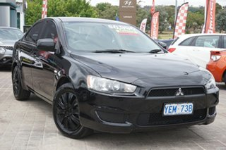 2009 Mitsubishi Lancer CJ MY09 ES Black 5 Speed Manual Sedan.