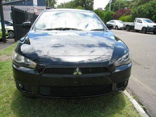 2008 Mitsubishi Lancer CJ VR Black 6 Speed CVT Auto Sequential Sedan.