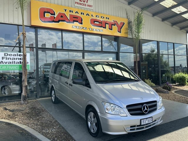 Used Mercedes-Benz Vito MY11 122CDI LWB Traralgon, 2011 Mercedes-Benz Vito MY11 122CDI LWB Silver 5 Speed Automatic Van