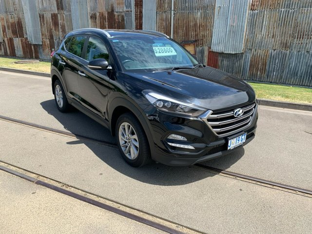Used Hyundai Tucson TLE Elite D-CT AWD Glenorchy, 2016 Hyundai Tucson TLE Elite D-CT AWD Black 7 Speed Sports Automatic Dual Clutch Wagon