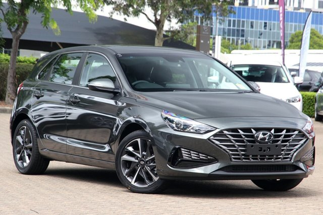New Hyundai i30 PD.V4 MY21 Elite Nunawading, 2020 Hyundai i30 PD.V4 MY21 Elite Iron Grey 6 Speed Sports Automatic Hatchback