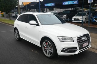 2015 Audi SQ5 8R MY16 3.0 TDI Quattro White 8 Speed Automatic Wagon.