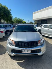 2016 Mitsubishi Triton MQ MY16 GLX Double Cab 4x2 Silver 5 Speed Sports Automatic Utility.