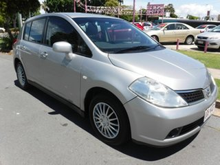 2006 Nissan Tiida C11 ST Silver 5 Speed Automatic Hatchback.