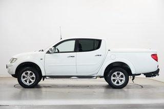 2014 Mitsubishi Triton MN MY15 GLX-R Double Cab White 5 Speed Manual Utility.
