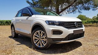 2020 Volkswagen T-ROC A1 MY21 110TSI Style Pure White/Black Roof 8 Speed Sports Automatic Wagon.