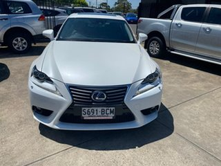 2014 Lexus IS AVE30R IS300h Luxury White 1 Speed Constant Variable Sedan Hybrid