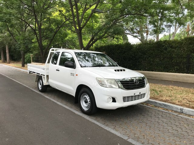 Pre-Owned Toyota Hilux KUN16R MY12 SR Double Cab 4x2 Hawthorn, 2012 Toyota Hilux KUN16R MY12 SR Double Cab 4x2 White 5 Speed Manual Utility