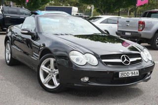 2003 Mercedes-Benz SL-Class R230 SL500 Black 5 Speed Sports Automatic Roadster.