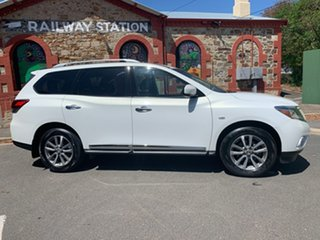 2013 Nissan Pathfinder R52 MY14 ST-L X-tronic 2WD White 1 Speed Constant Variable Wagon.