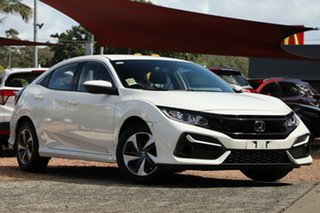 2020 Honda Civic 10th Gen MY20 VTi Platinum White 1 Speed Constant Variable Hatchback.