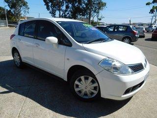 2008 Nissan Tiida C11 MY07 ST White 4 Speed Automatic Hatchback.