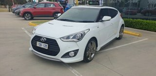 2014 Hyundai Veloster FS3 SR Coupe Turbo Crystal White 6 Speed Sports Automatic Hatchback