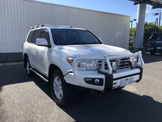 2012 Toyota Landcruiser VDJ200R MY10 VX White 6 Speed Sports Automatic Wagon.