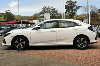 2020 Honda Civic 10th Gen MY20 VTi Platinum White 1 Speed Constant Variable Hatchback