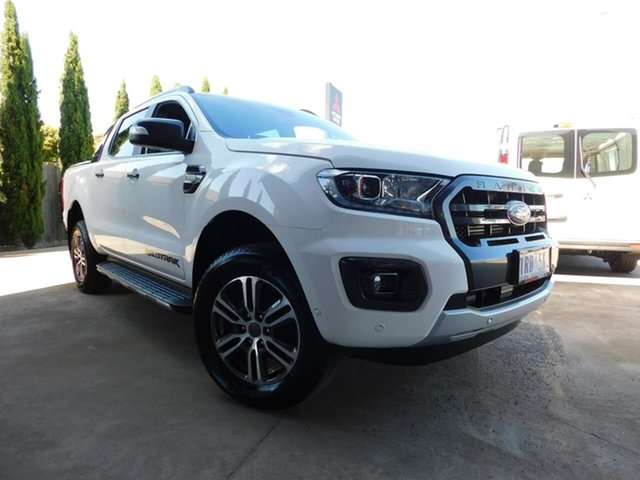 Pre-Owned Ford Ranger PX MkIII 2020.25MY Wildtrak Wonthaggi, 2019 Ford Ranger PX MkIII 2020.25MY Wildtrak White 6 Speed Sports Automatic Double Cab Pick Up