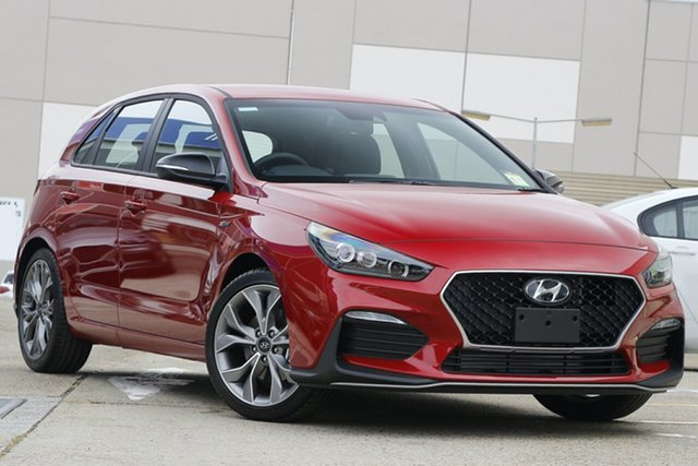 New Hyundai i30 PD.V4 MY21 N Line South Melbourne, 2020 Hyundai i30 PD.V4 MY21 N Line Fiery Red 7 Speed Auto Dual Clutch Hatchback