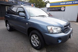 2007 Toyota Kluger MCU28R MY06 CV AWD Glacier Blue 5 Speed Automatic Wagon