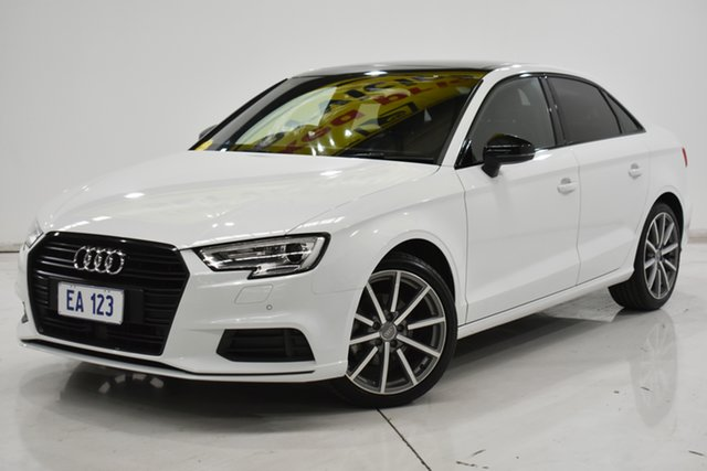 Used Audi A3 8V MY18 Black Edition S Tronic Brooklyn, 2018 Audi A3 8V MY18 Black Edition S Tronic White 7 Speed Sports Automatic Dual Clutch Sedan