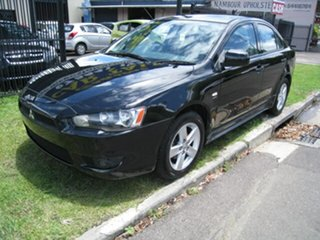 2008 Mitsubishi Lancer CJ VR Black 6 Speed CVT Auto Sequential Sedan