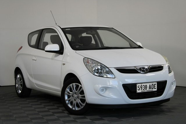 Used Hyundai i20 PB MY11 Active Wayville, 2011 Hyundai i20 PB MY11 Active White 5 Speed Manual Hatchback