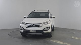 2014 Hyundai Santa Fe DM MY15 Active CRDi (4x4) Creamy White 6 Speed Automatic Wagon