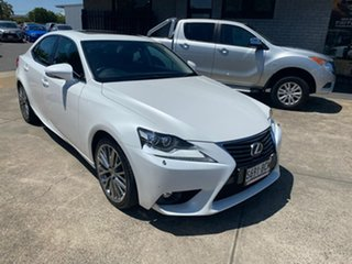 2014 Lexus IS AVE30R IS300h Luxury White 1 Speed Constant Variable Sedan Hybrid.