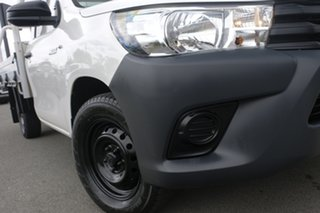 2016 Toyota Hilux TGN121R Workmate 4x2 Glacier White 6 Speed Sports Automatic Cab Chassis.