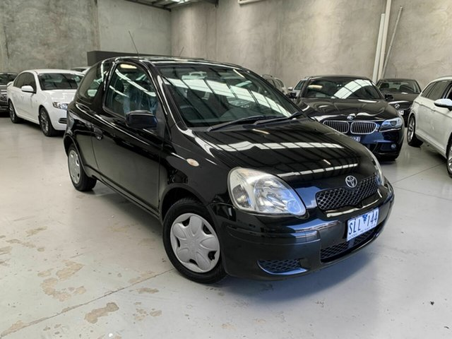 Used Toyota Echo NCP10R MY03 Coburg North, 2003 Toyota Echo NCP10R MY03 Black 5 Speed Manual Hatchback