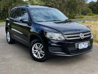 2011 Volkswagen Tiguan 5N 132TSI Black Sports Automatic Dual Clutch Wagon.