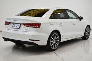 2018 Audi A3 8V MY18 Black Edition S Tronic White 7 Speed Sports Automatic Dual Clutch Sedan