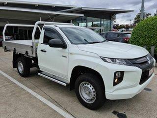 2019 Mitsubishi Triton MR MY20 GLX White 5 Speed Manual Cab Chassis.