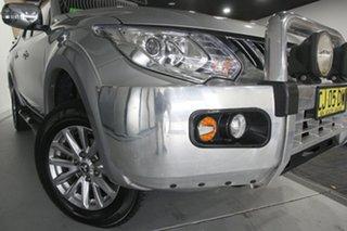 2016 Mitsubishi Triton MQ MY16 GLS (4x4) Sterling Silver 5 Speed Automatic Dual Cab Utility.