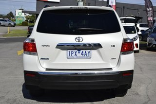 2013 Toyota Kluger GSU45R MY12 Altitude AWD White 5 Speed Sports Automatic Wagon
