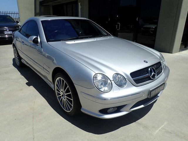 Used Mercedes-Benz CL-Class C215 MY04 CL55 AMG Wangara, 2003 Mercedes-Benz CL-Class C215 MY04 CL55 AMG Silver Metallic 5 Speed Sports Automatic Coupe