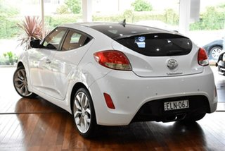 2013 Hyundai Veloster FS3 + Coupe D-CT White 6 Speed Sports Automatic Dual Clutch Hatchback.