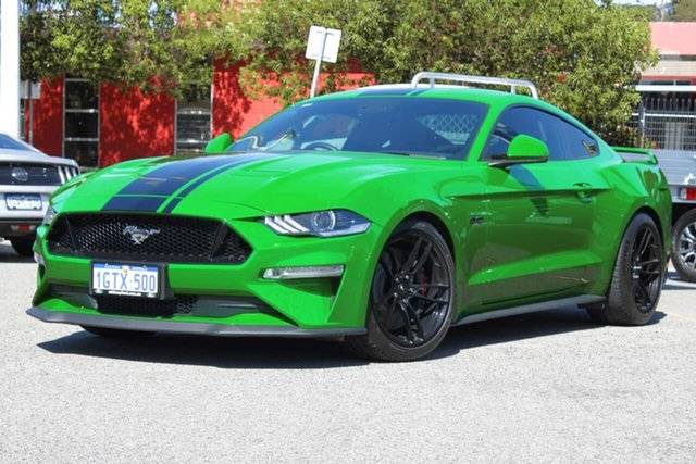Used Ford Mustang FN 2019MY GT Midland, 2019 Ford Mustang FN 2019MY GT Green 10 Speed Sports Automatic Fastback