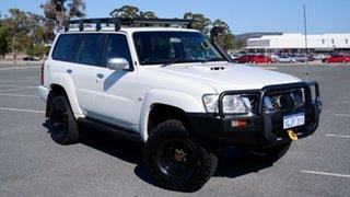 2010 Nissan Patrol GU 7 MY10 ST Pearl White 4 Speed Automatic Wagon.