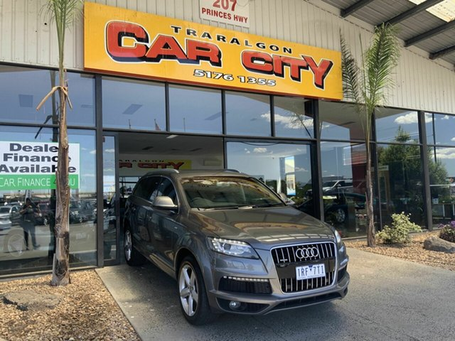 Used Audi Q7 MY13 3.0 TDI Quattro Traralgon, 2012 Audi Q7 MY13 3.0 TDI Quattro Grey 8 Speed Automatic Tiptronic Wagon